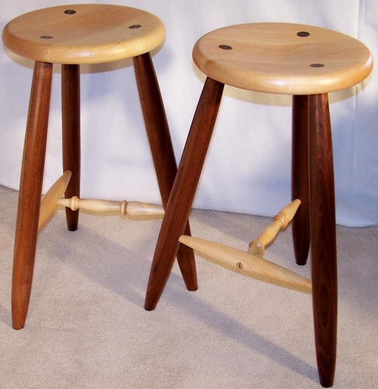 Search form & Varnished Three Legged Stool | Jerry Hollon Woodworking islam-shia.org